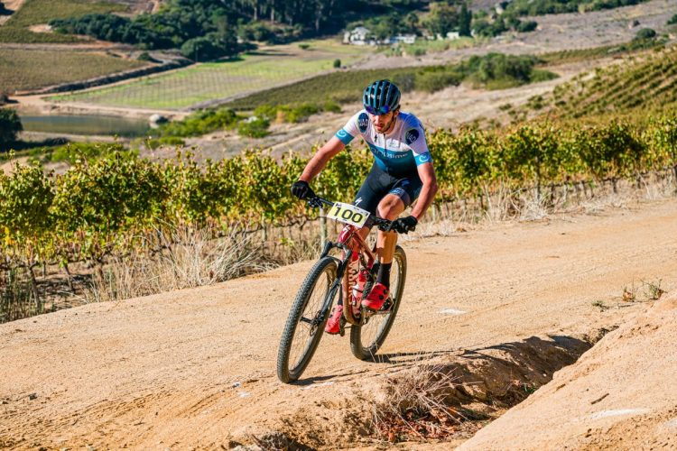 Matt Beers soloed to an impressive victory and his first national title in the 2021 South African XCM Championships; in Paarl on Saturday, 1 May.  Photo by Chris Hitchcock.