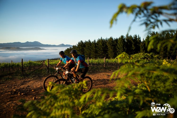 during the 2018 FNB Wines2Whales Pinotage 3 day mountain bike event stage 1 from Lourensford to Oak Valley. Image by Nick Muzik