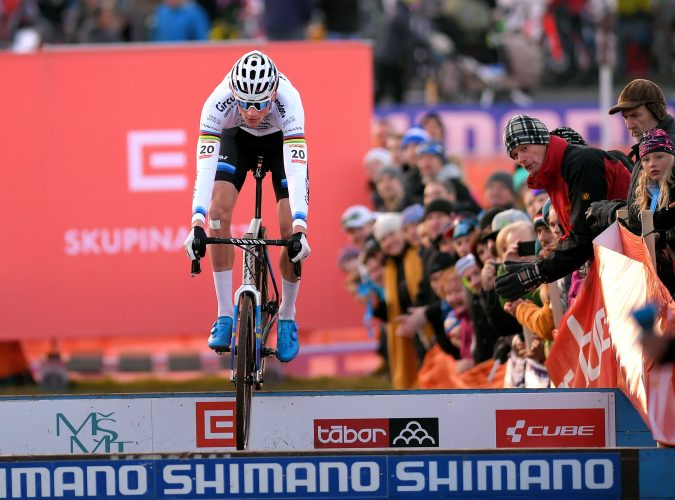 TABOR, CZECH REPUBLIC - NOVEMBER 17: Mathieu Van Der Poel of The Netherlands and Team Corendon - Circus / during the 22nd Tabor World Cup, on November 17, 2018 in Tabor, Czech Republic. (Photo by Luc Claessen/Getty Images)