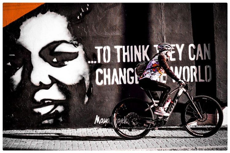 """Martin Travers inspired by Maya Angelou's quote: """"If you can't change it, change the way you think about it."""" Photo by Jacques Marais."""
