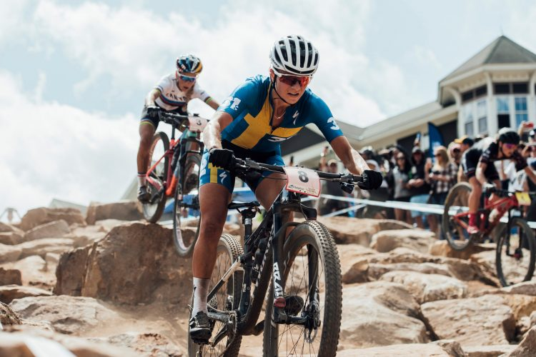 Jenny Rissveds performs at the UCI XCO World Cup in Snowshoe, USA on September 8, 2019 // Bartek Wolinski/Red Bull Content Pool //