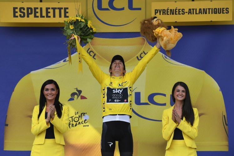 Espelette - France - wielrennen - cycling - cyclisme - radsport - THOMAS Geraint  (GBR)  of Team SKY pictured during the 105th Tour de France - stage - 20 from Saint-Pée-sur-Nivelle to Espelette - 31KM - photo JdM/PN/Cor Vos © 2018