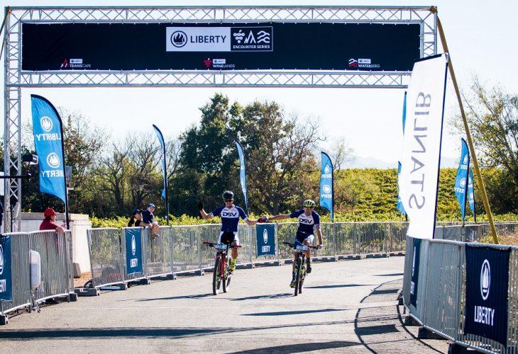 Pic 1 Arno du Toit & Gert Heyns finish line LR