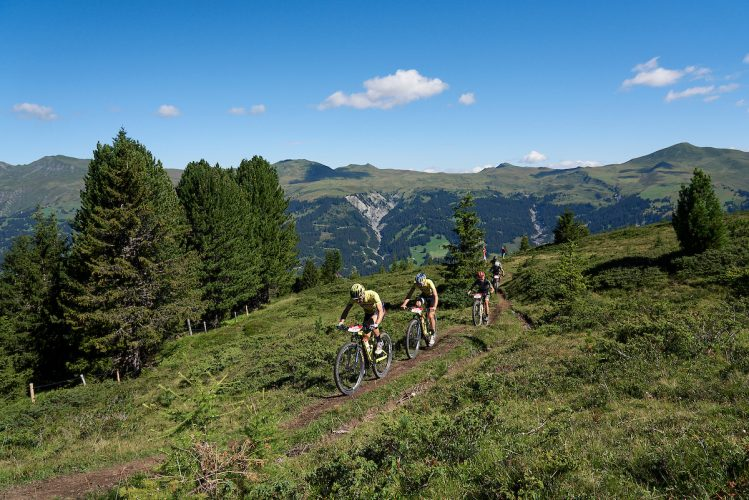Nino SCHURTER and Lars FORSTER during Stage 3 of the 2020 Swiss Epic from Arosa to Arosa, Graubünden, Switzerland on 20 August 2020. Photo by Michael Chiaretta.