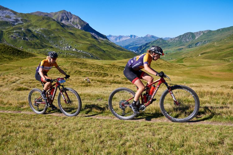 Annika LANGVAD,Haley BATTEN during Stage 4 of the 2020 Swiss Epic from Arosa to Davos, Graubünden, Switzerland on 21 August 2020. Photo by Marius Holler.